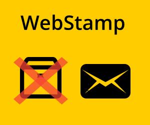 WebStamp: Frankierung nur noch für Briefe